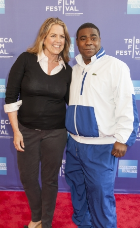 NEW YORK, NY - APRIL 24: Director Marina Zenovich and Tracy Morgan attend Tribeca Talks: The Artists Angle Richard Pryor: Omit The Logic during the 2013 Tribeca Film Festival on April 24, 2013 in N 報道画像