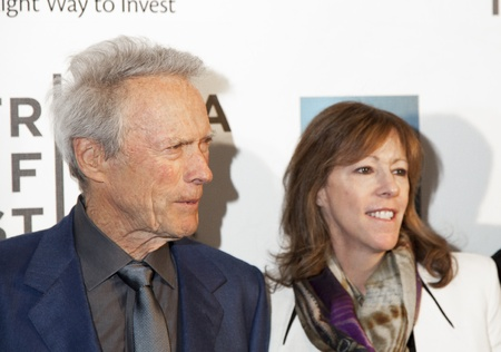 NEw York, USA - Aprol 27, 2013:  Actor Clint Eastwood and Jane Rosenthal attend the Tribeca Talks: Director Stock Photo - 19298905