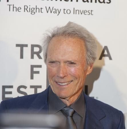 New York, USA - Aprol 27, 2013: Schauspieler Clint Eastwood nimmt an den Tribeca Talks: Director