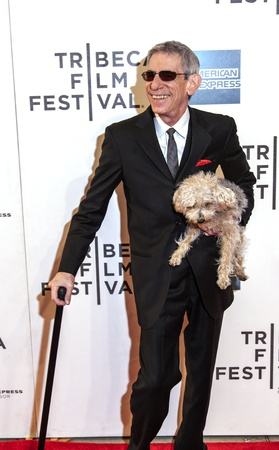 New York, USA - April 27, 2013: Actor Richard Belzer and his dog Bebe attend the closing night screening of  Stock Photo - 19298900