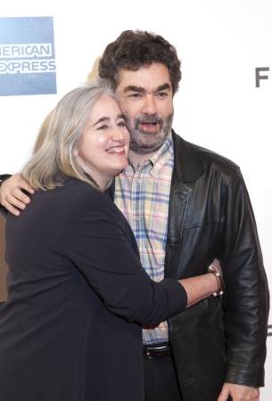 New York, USA - April 27, 2013: Loren Eiferman and Joe Berlinger attend the closing night screening of  Stock Photo - 19298903