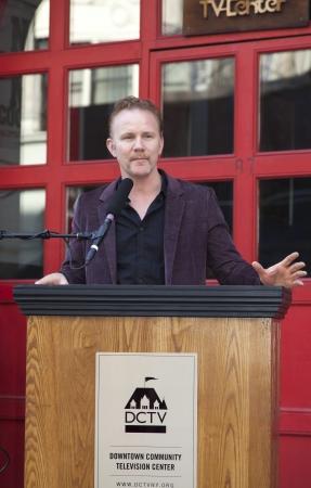 filmmaker: NEW YORK, NY - MAY 07: Documentary filmmaker Morgan Spurlock attends The DCTV Cinema Groundbreaking Ceremony at DCTV on May 7, 2013 in New York City.