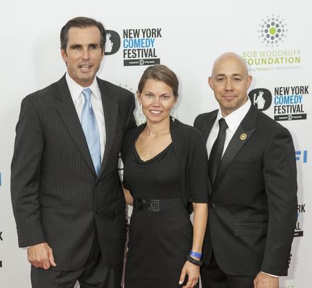NEW YORK, NY - NOVEMBER 06  Sergeant Brian Mast, Brianna Mast and Bob Woodroff  R-L  attend the 7th annual