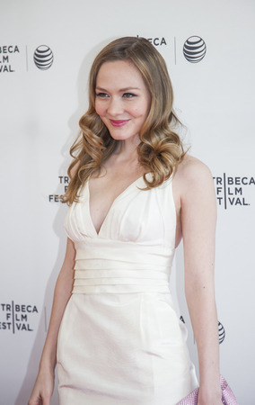 New York, NY, USA - April 17, 2014: Actress Louisa Krause attends the 2014 Tribeca Film Festival Screening of 'Gabriel' at The SVA Theater, Manhattan Stock Photo - 27652539