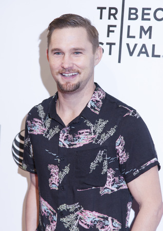 loitering: New York, NY, USA - April 18, 2014: Actor Brian Geraghty attends the 2014 Tribeca Film Festival Word Premiere Narrative: Loitering With Intent at BMCCTribeca PAC, Manhattan