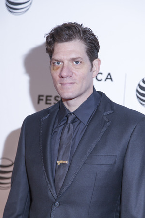 loitering: New York, NY, USA - April 18, 2014: Director Adam Rapp attends the 2014 Tribeca Film Festival Word Premiere Narrative: Loitering With Intent at BMCCTribeca PAC, Manhattan Editorial