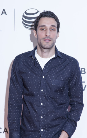loitering: New York, NY, USA - April 18, 2014: Actor and writer Michael Godere attends the 2014 Tribeca Film Festival Word Premiere Narrative: Loitering With Intent at BMCCTribeca PAC, Manhattan