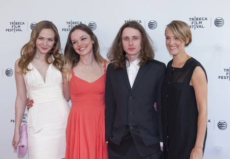 New York, NY, USA - April 17, 2014   L-R  Louisa Krause, Emily Meade, Rory Culkinand Alexia Rasmussen attend the 2014 Tribeca Film Festival Screening of  Editorial