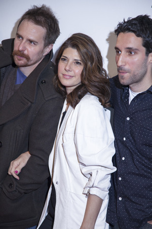 loitering: New York, NY, USA - April 18, 2014  Sam Rockwell, Marisa Tomei and Michael Godere attend the 2014 Tribeca Film Festival Word Premiere Narrative