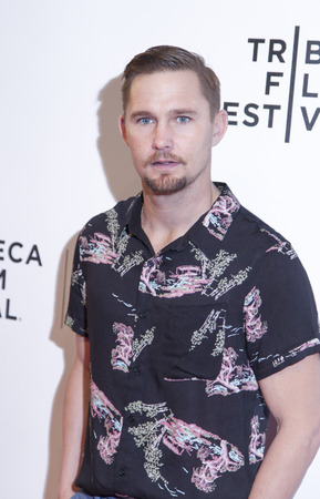 loitering: New York, NY, USA - April 18, 2014  Actor Brian Geraghty attends the 2014 Tribeca Film Festival Word Premiere Narrative   Editorial