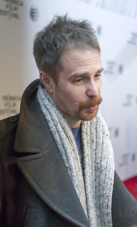 loitering: New York, NY, USA - April 18, 2014  Actor Sam Rockwell attends the 2014 Tribeca Film Festival Word Premiere Narrative