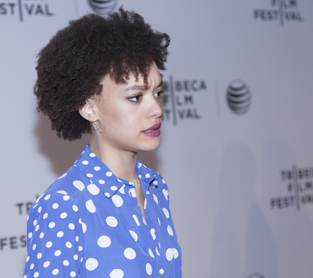 loitering: New York, NY, USA - April 18, 2014  Actress Britne Oldford attends the 2014 Tribeca Film Festival Word Premiere Narrative