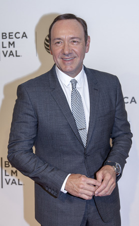 New York, NY, USA - April 21, 2014: Actor Kevin Spacey attends Tribeca Talks: After The Movie: 'NOW: In the Wings On A World Stage' during the 2014 Tribeca Film Festival at BMCC Tribeca PAC, Manhattan