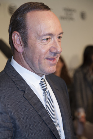 spacey: New York, NY, USA - April 21, 2014: Actor Kevin Spacey attends Tribeca Talks: After The Movie: NOW: In the Wings On A World Stage during the 2014 Tribeca Film Festival at BMCC Tribeca PAC, Manhattan