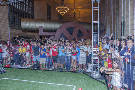 New York, NY, USA - July 25, 2014  A view of atmosphere at the PUMA partners with Arsenal Football Club to Debut Monumental Cannon event in Grand Central Station in New York City