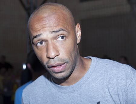 New York, NY, USA - July 25, 2014  Arsenal Legend Thierry Henry atttends PUMA partners with Arsenal Football Club to Debut Monumental Cannon event in Grand Central Station in New York City  Editorial