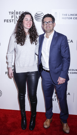 producers: New York, NY, USA - April 17, 2015: Producers Michael Gasparro (R) and Lizzie Nastro attends the premiere of The Wannabe during the 2015 Tribeca Film Festival at BMCC Tribeca PAC, Manhattan