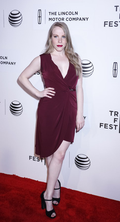 fames: New York, NY, USA - April 17, 2015: Actress Emma Myles attends the premiere of The Wannabe during the 2015 Tribeca Film Festival at BMCC Tribeca PAC, Manhattan