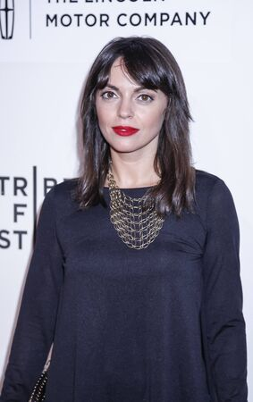 adriana: New York, NY, USA - April 17, 2015: Actress Adriana DeMeo attends the premiere of The Wannabe during the 2015 Tribeca Film Festival at BMCC Tribeca PAC, Manhattan