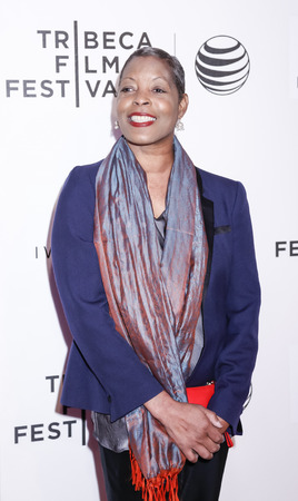 fames: New York, NY, USA - April 19, 2015: Robin Harper attends the premiere of Editorial