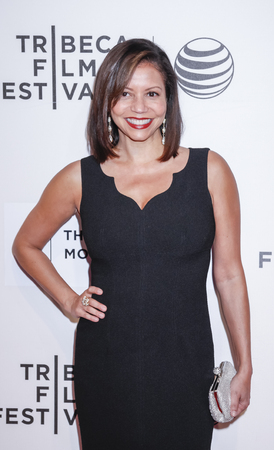 reuben: New York, NY, USA - April 22, 2015:  Actress Gloria Reuben attends the World premiere of 'Anesthesia' during the 2015 Tribeca Film Festival at BMCC Tribeca PAC, Manhattan Editorial