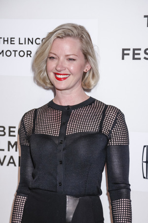 mol: New York, NY, USA - April 22, 2015:  Actress Gretchen Mol attends the World premiere of 'Anesthesia' during the 2015 Tribeca Film Festival at BMCC Tribeca PAC, Manhattan Editorial