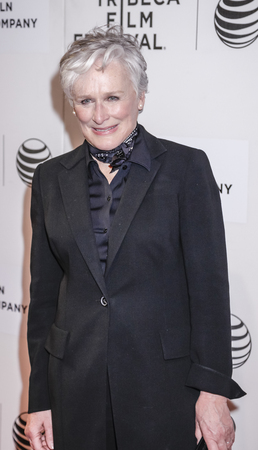 glenn: New York, NY, USA - April 22, 2015: Actress Glenn Close attends the World premiere of 'Anesthesia' during the 2015 Tribeca Film Festival at BMCC Tribeca PAC, Manhattan Editorial