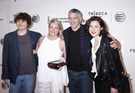 molly: New York, NY, USA - April 22, 2015: John Molly (second R) and family attend the World premiere of 'Anesthesia' during the 2015 Tribeca Film Festival at BMCC Tribeca PAC, Manhattan