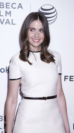 alison: New York, NY, USA - April 21, 2015: Actress Alison Brie attends the Spotlight premiere of 'Sleeping with other people' during the 2015 Tribeca Film Festival at BMCC Tribeca PAC, Manhattan Editorial