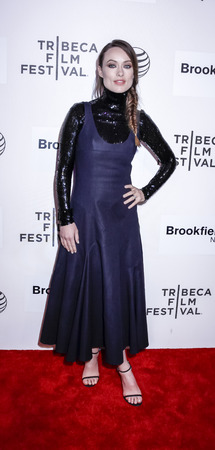 olivia: New York, NY, USA - April 21, 2015: Actress Olivia Wilde attends the Spotlight premiere of 'Sleeping with other people' during the 2015 Tribeca Film Festival at BMCC Tribeca PAC, Manhattan
