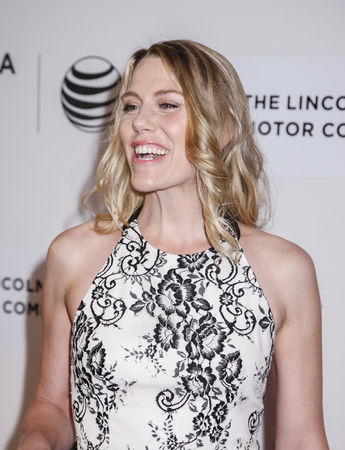 narrative: New York, NY, USA - April 22, 2015: Actress Rachel Whitman Groves attends the World premiere Narrative of Maggie during the 2015 Tribeca Film Festival at BMCC Tribeca PAC, Manhattan