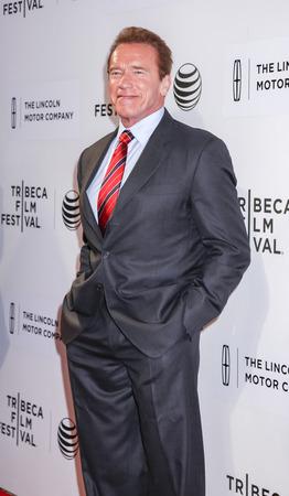 ニューヨーク、ニューヨーク、アメリカ合衆国 - 2015 年 4 月 22 日: 俳優アーノルド ・ シュワルツェネッガーもうトライベッカ PAC、マンハッタンで 20