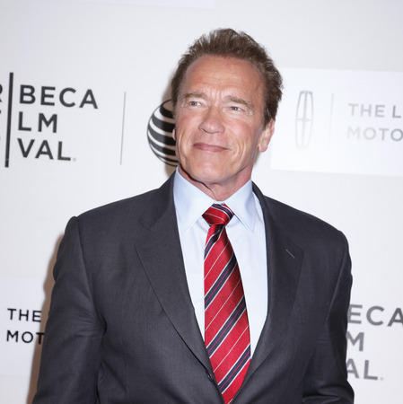 narrative: New York, NY, USA - April 22, 2015: Actor Arnold Schwarzenegger attends the World premiere Narrative of Maggie during the 2015 Tribeca Film Festival at BMCC Tribeca PAC, Manhattan Editorial
