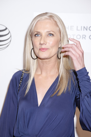 narrative: New York, NY, USA - April 22, 2015: Joely Richardson attends the World premiere Narrative of Maggie during the 2015 Tribeca Film Festival at BMCC Tribeca PAC, Manhattan