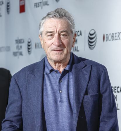 New York, NY, USA - April 25, 2015: Robert De Niro attends the Tribeca Film FestivalÂ' closing night, 25th anniversary of Goodfellas, co-sponsored by Infor and Roberto Coin during the 2015 Tribeca Film Festival at Beacon Theatre, Manhattan