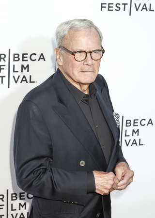 New York, NY, USA - April 15, 2015: Journalist Tom Brokaw attends the world premiere of Live From New York during the 2015 Tribeca Film Festival at The Beacon Theatre, Manhattan