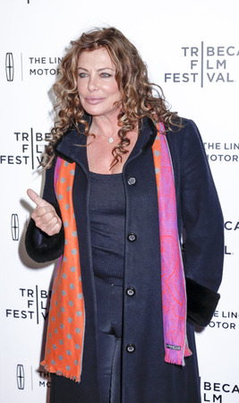 narrative: New York, NY, USA - April 21, 2015: Kelly LeBrock attends Special Screening Narrative On The Town during the 2015 Tribeca Film Festival at Spring Studios, Manhattan