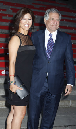 fames: New York, NY, USA - April 14, 2015:  Julie Chen and Les Moonves attend the Vanity Fair Party during the 2015 Tribeca Film Festival at the New York State Supreme Court Building, Manhattan Editorial