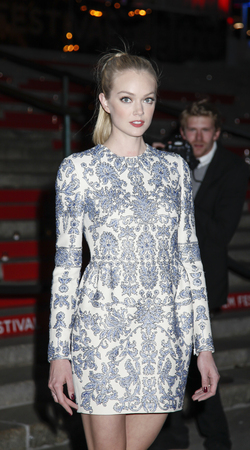 lindsay: New York, NY, USA - April 14, 2015: Fashion model Lindsay Ellingson attends the Vanity Fair Party during the 2015 Tribeca Film Festival at the New York State Supreme Court Building, Manhattan