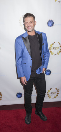 documentary: New York, NY, USA - April 30, 2015: Omar Shariff Jr. attends world premiere of documentary film 'A Journey to Taiwan' during NYC International Film Festival at the DGA Theatre, Manhattan Editorial