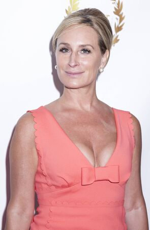 documentary: New York, NY, USA - April 30, 2015: Sonja Morgan attends world premiere of documentary film 'A Journey to Taiwan' during NYC International Film Festival at the DGA Theatre, Manhattan