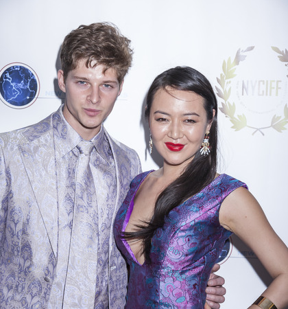 spencer: New York, NY, USA - April 30, 2015: Spencer Burhoe and Angel Pai attend world premiere of documentary film 'A Journey to Taiwan' during NYC International Film Festival at the DGA Theatre, Manhattan