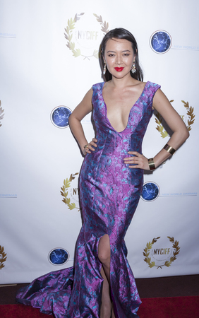 documentary: New York, NY, USA - April 30, 2015: Angel Pai attends world premiere of documentary film 'A Journey to Taiwan' during NYC International Film Festival at the DGA Theatre, Manhattan