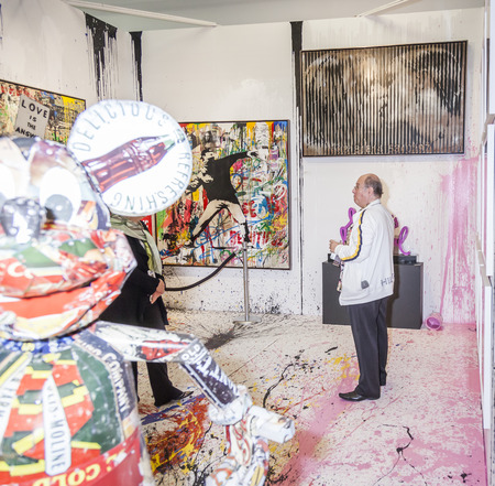 exhibition: New York NY USA  May 14 2015: General view of atmosphere at Art Miami New York the international contemporary and modern art fair at Pier 94 Manhattan