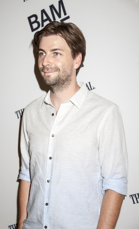 watts: Brooklyn, NY, USA - June 21, 2015: Director Jon Watts attends BAMcinemaFest 2015 Cop Car premiere at BAM Peter Jay Sharp Building, BAM Rose Cinema Editorial