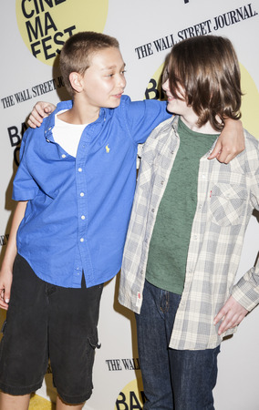 bam: Brooklyn, NY, USA - June 21, 2015: James Freedson-Jackson (L) and Hays Wellford attend BAMcinemaFest 2015 Cop Car premiere at BAM Peter Jay Sharp Building, BAM Rose Cinema