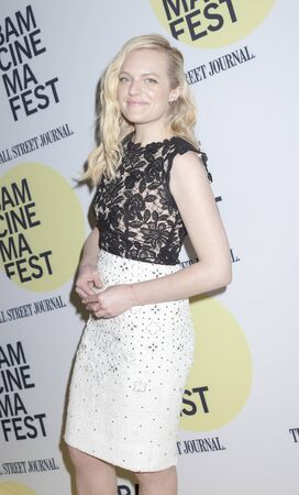 bam: Brooklyn, NY, USA - June 22, 2015: Actress Elisabeth Moss attends BAMcinemaFest 2015 'Queen of Earth' premiere at BAM Peter Jay Sharp Building, BAM Rose Cinema