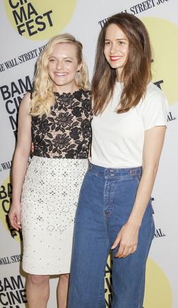 elisabeth: Brooklyn, NY, USA - June 22, 2015: (L-R) Elisabeth Moss, Katherine Waterston attend BAMcinemaFest 2015 'Queen of Earth' premiere at BAM Peter Jay Sharp Building, BAM Rose Cinema