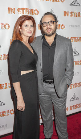 mel: New York, NY, USA - June 24, 2015: Lauren Tarne and director Mel Rodriguez III attend the New York premiere of In Stereo at Tribeca Grand Hotel, Manhattan