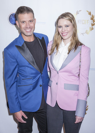 chaplin: New York, NY, USA - April 30, 2015: Omar Sharif Jr. and Kieta Chaplin attend world premiere of documentary film 'A Journey to Taiwan' during NYC International Film Festival at the DGA Theatre, Manhattan